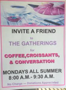 Coffee, Croissant & Conversation